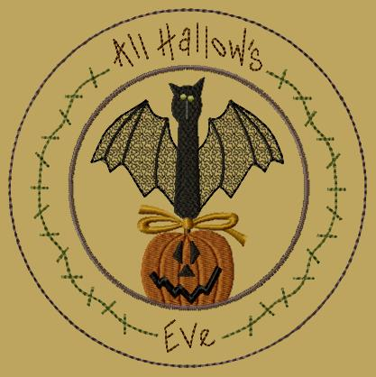 "PK110 ""All Hallow's Eve"" Candle Mat"